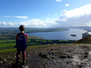 A Boy Looks out over a Loch